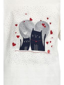 Пижама для девочки Cornette 975/94 Two cats