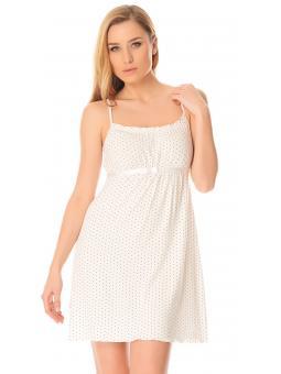 Ночная рубашка для женщины DeLafense 918E Kropki